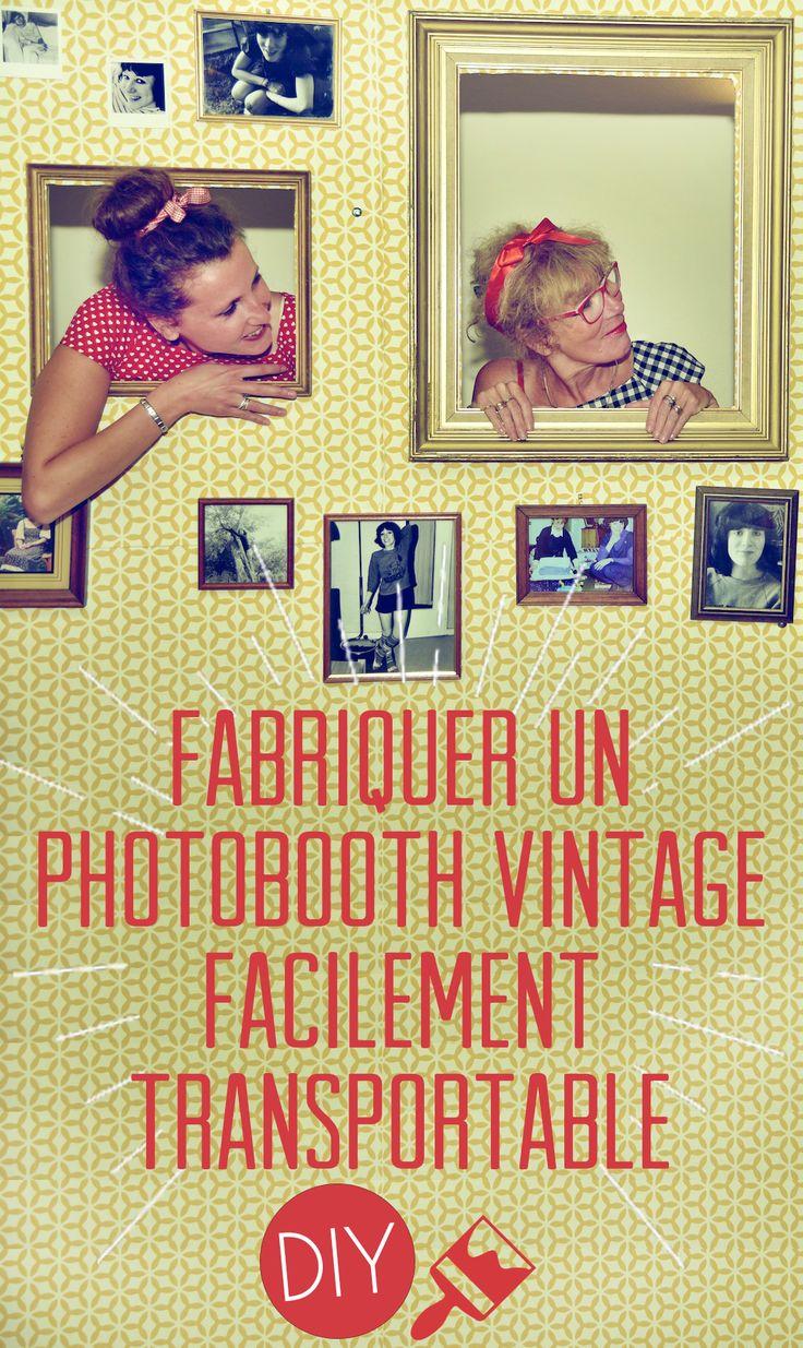diy fabriquer un photobooth vintage facilement transportable mariage vintage et bricolage. Black Bedroom Furniture Sets. Home Design Ideas
