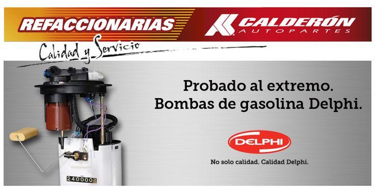 La bomba de gasolina es un elemento esencial para el buen funcionamiento del motor ya que es la encargada de hacer que el sistema de inyección reciba de manera constante el combustible a través de los rieles de los inyectores que mediante succión extraen el líquido del tanque.  Si buscas bombas de gasolina ¡Nosotros tenemos las mejores! Pregunta por la amplia gama de productos #Delphi en Calderón Autopartes