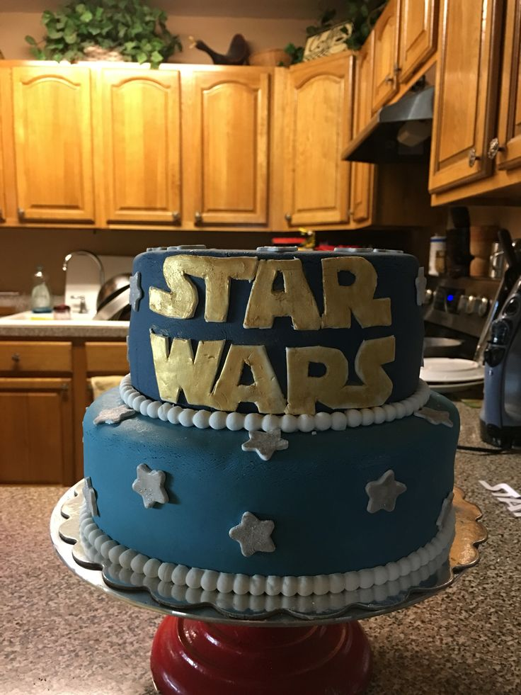 Adrian 6th birthday cake. Star Wars.