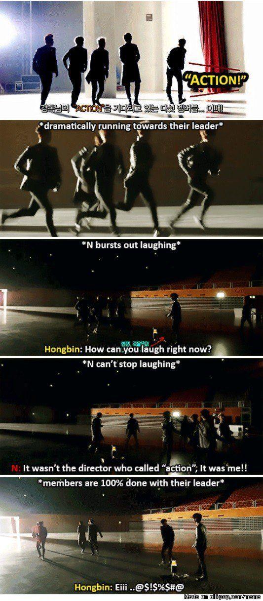 Lol cute leader N, did it again XD Meme Center   allkpop