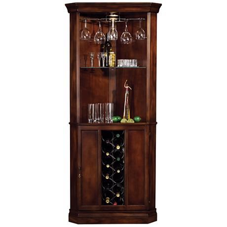 Lovely Howard Miller Piedmont Rustic Cherry Corner Bar Cabinet Design Inspirations