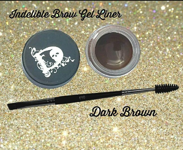 Indelible Brow Gel Liner  #brows #browproduct #makeup #coloredbrows #browgel