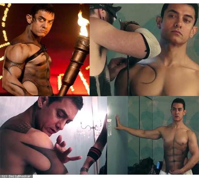 How Aamir Khan painted his body for Dhoom 3 song Malang http://daily.bhaskar.com/article-hf/ENT-aamir-khan-took-3-hours-to-get-his-body-painted-for-the-song-malang-4454690-PHO.html