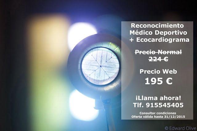 pruebas de esfuerzoReconocimiento Médico Deportivo + Ecocardiograma en Madrid