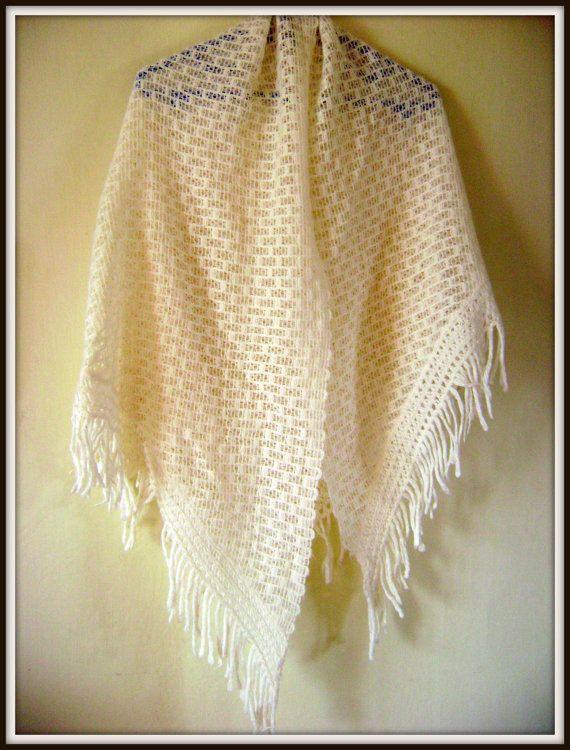 Victorian White ShawlCrochet ShawlLarge by VintageBrandNew on Etsy