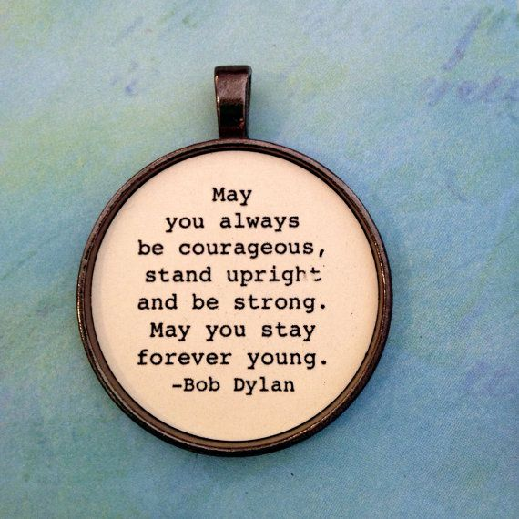 Bob Dylan Lyric Necklace Pendant