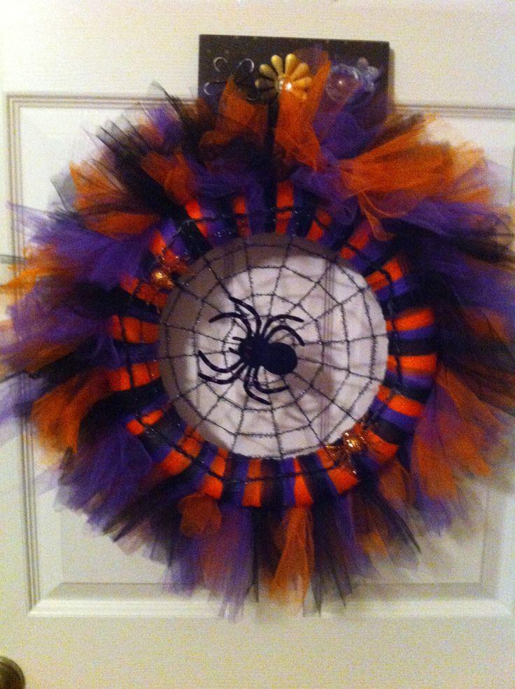 Halloween Tulle Wreath