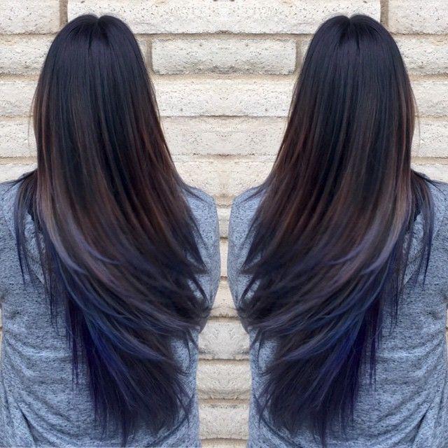 Oil slick hair trend                                                                                                                                                      More