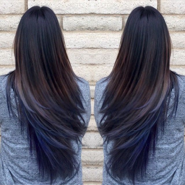 Oil slick hair trend
