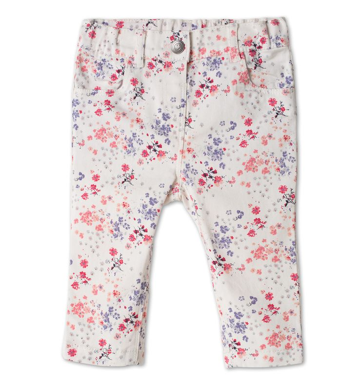 Pantaloni di cotone per bebè nei bianco crema c&a 9E