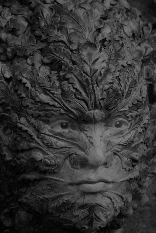 The Green man. A pagan figure in British folklore seen in church's and as a decoration. ©andybowman