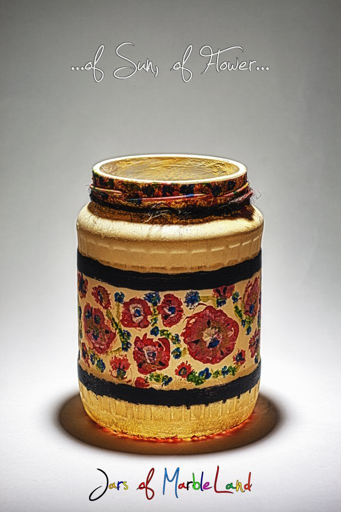 Jars of Marbleland- decorative jars, candle holders, painted glass