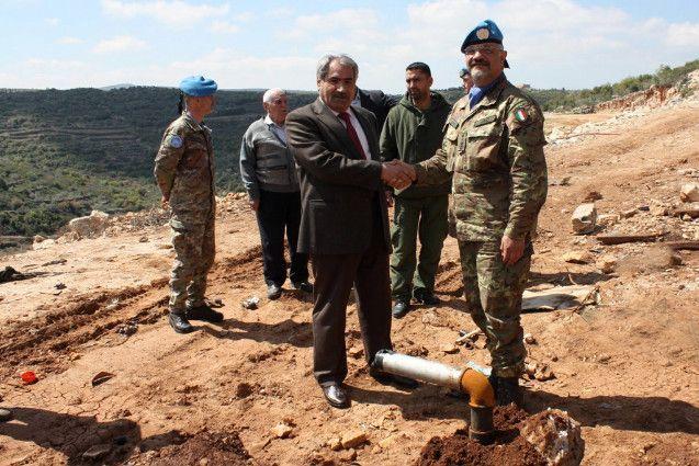 IL mio ex comandante in missione in Libano: Cerimonia di consegna di un pozzo di acqua potabile e fornitura di materiale all'Agenzia di sicurezza libanese