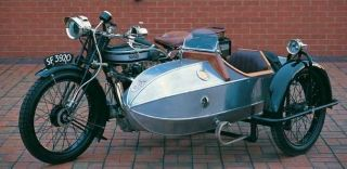 1925 NORTON OHV MODEL 18 500cc W/ SIDECAR