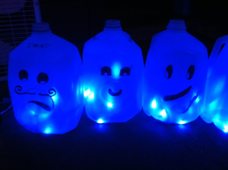 diy halloween decoration milk gallon ghosts taken from another pin 1 wash