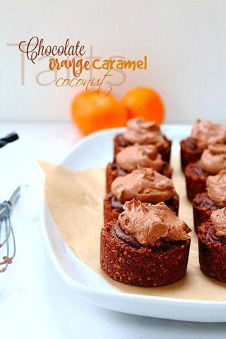 Chocolate Orange Caramel Tarts (8) title