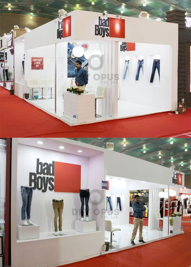 Exhibition Stall Manufacturer In Gujarat : Garment exhibition stall design and fabrication at