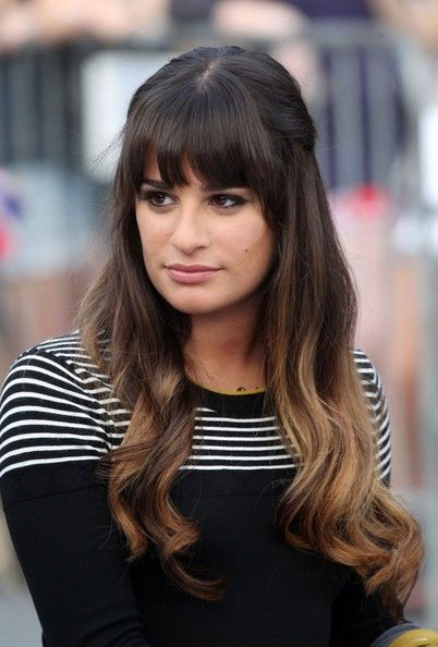 Lea Michele's ombre Hair. I'm totally going to do this bangs and all!