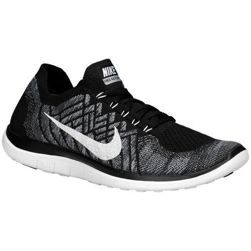 Nike Free 4.0 Flyknit Noir / Loup Gris / Noir Couloirs Gris / Blanc Livraison gratuite offres XSAwxF