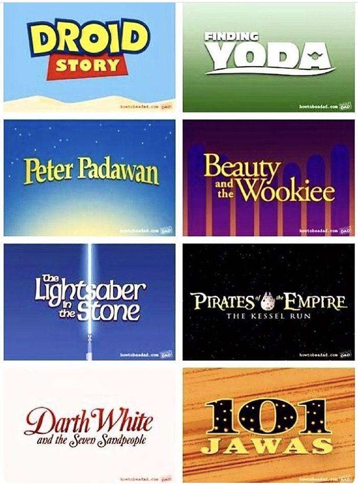 Star Wars parodies of Disney movies!
