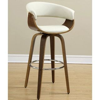 Shop For Aviva Modern Bentwood Design Cream/ Ecru Upholstered Bar Stool.  Get Free Shipping. Upholstered Bar StoolsFurniture OutletOnline ...