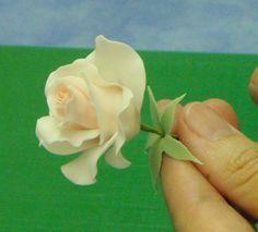 Clay rose flower tutorial