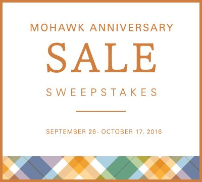 I just entered the #MohawkAnniversarySale Sweepstakes for a chance to win one of two cash prizes! Click on this link to enter and get a $500 off coupon  http://ow.ly/tvot304dPuB