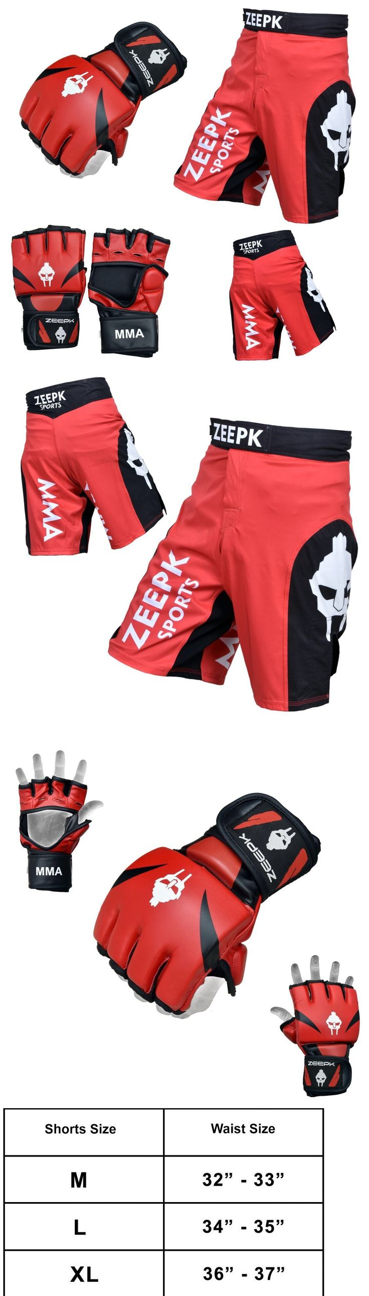 Shorts 73982: Mma Ufc Sparring Grappling Boxing Fighting Shorts And Gloves Set Red/Black Color -> BUY IT NOW ONLY: $49.99 on eBay!