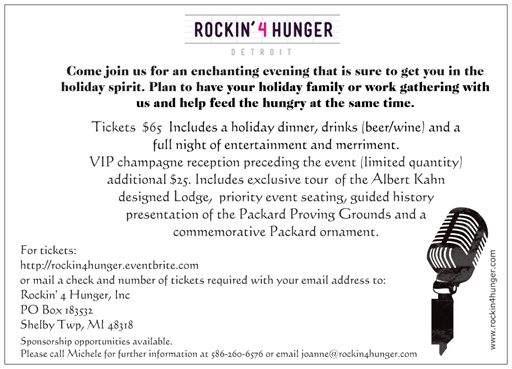 Rockin' For Hunger  $65 Benefit Tickets