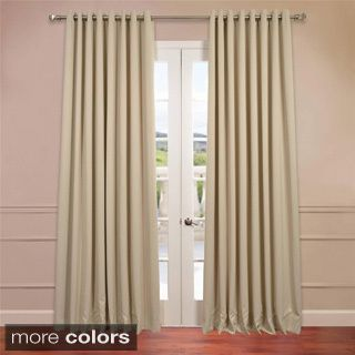 Exclusive Fabrics Extra Wide Thermal Blackout 108 Inch Curtain Panel By  Exclusive Fabrics