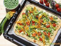 Focaccia con verdure di stagione  #ricette #food #recipes