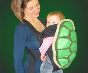 Turtle Shell Baby Harness! I would take full advantage of this by dressing my baby up as a Ninja Turtle! :D