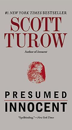Presumed Innocent by Scott Turow. Beginning of the prominence of the legal thriller by lawyer Scott Turow.