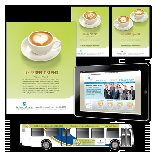 Dobson & Toncic The Perfect Blend print, advertising and website development | 3H Communications Inc.
