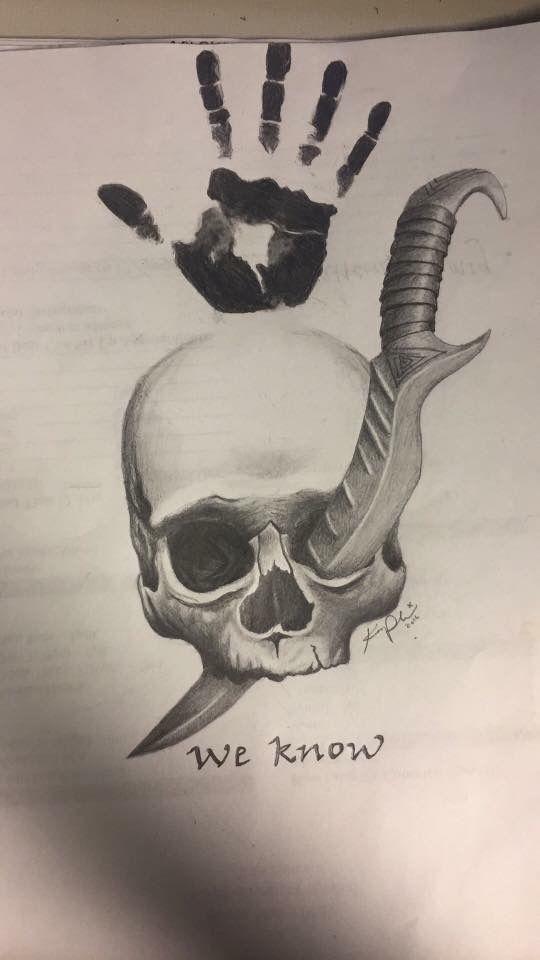The Elder Scrolls Five: Skyrim Dark Brotherhood Assassin Tattoo Sketch Idea