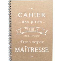 """Cahier """"Cahier des p'tits secrets d'une super Maîtresse"""""""