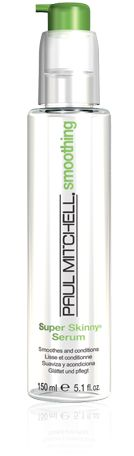 Paul Mitchell Super Skinny Serum... when you have thick, coarse, curly, unmanageable hair like me, this stuff is your secret weapon while flat ironing.