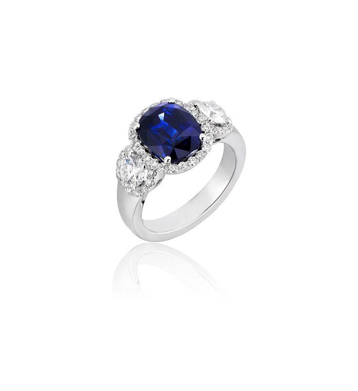 Ceylon Sapphire with Diamonds
