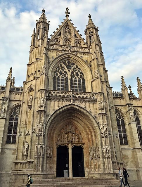 Notre-Dame Cathedral of Brussels, located in the bohemian district of Sablon.