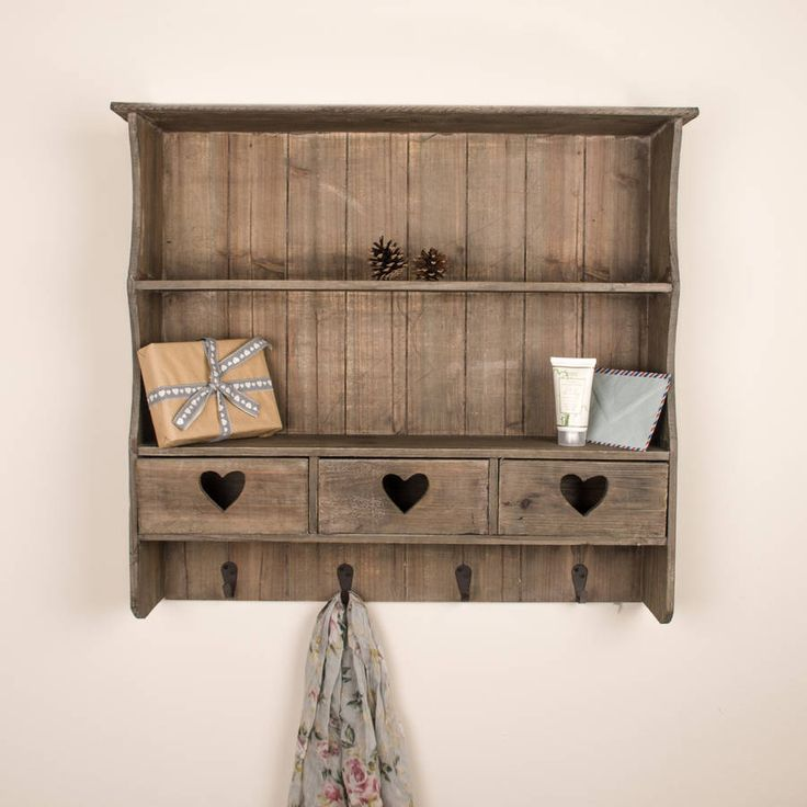 Wooden Shelving Unit With Storage Drawers