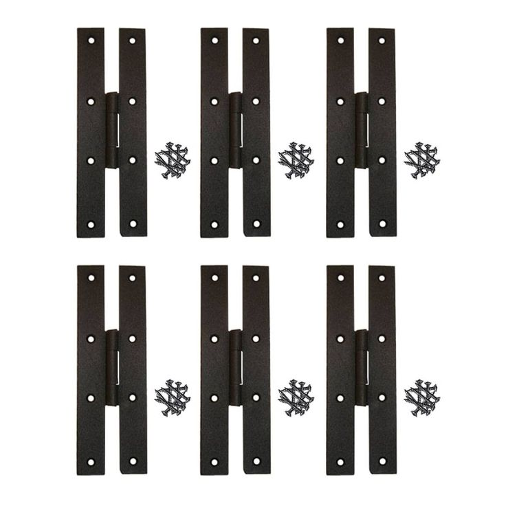 6 Forged Iron Door Flush Hinge H Style 7 H | Renovator's Supply (Renovator's Supply)