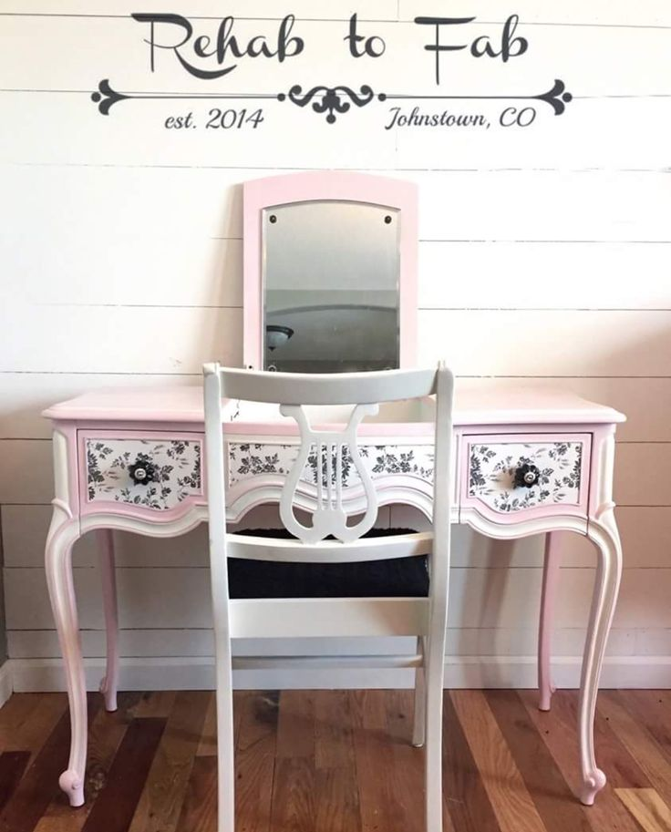 drexel bedroom set%0A Drexel Touraine vanity painted in Heirloom Traditions Paint  u    Posh Pink u      u       u    French Vanilla    Dresser