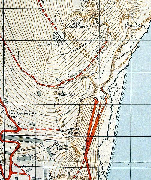 File:1961 Military Map of Gibraltar (south east).jpg