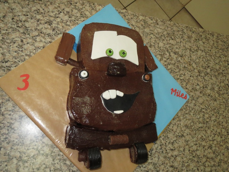 Mater chocolate cake boy's birthday