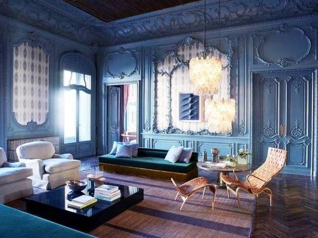 27 Mostly Monochrome Mouldings Dark Blue WallsInterior DecoratingDecorating IdeasBlue RoomsLiving Room