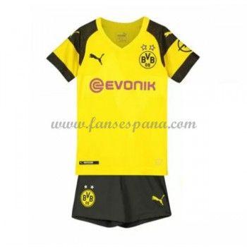 62f0bafed Camisetas De Futbol Niños BVB Borussia Dortmund Primera Equipación 2018-19