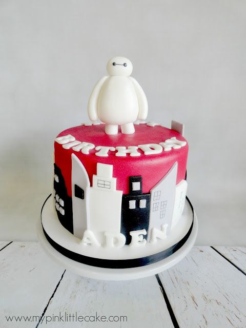 Pink Little Cake: Big Heroe Movie Theme Cake