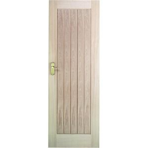 Wickes Geneva Internal Cottage Oak Veneer Door 5 Panel 1981 x 686mm