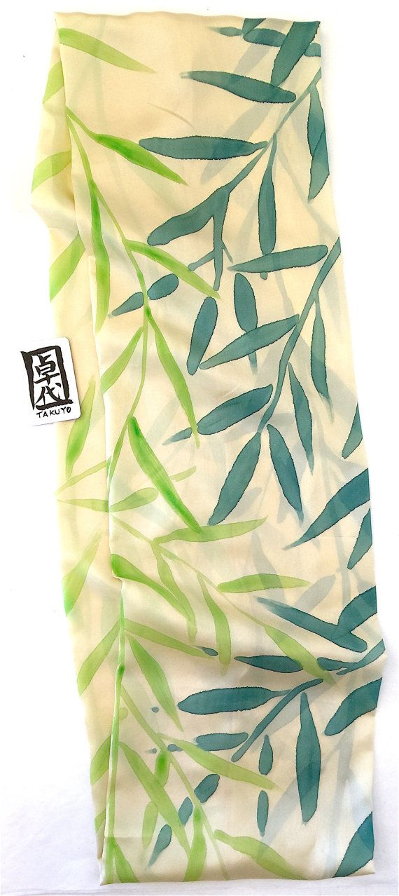 Sciarpa di seta Infinity cerchio sciarpa di SilkScarvesTakuyo