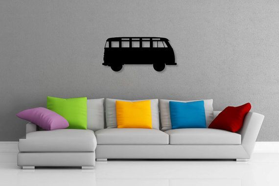 This listing is for one brand new CNC router cut VW Kombi wall art piece, made of 3mm thick aluminium composite material (ACM), created by Doozi.